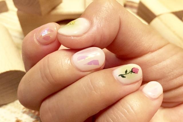 セルフジェルネイル【簡単】バラの書き方